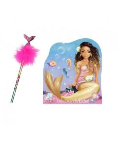 Set Carnetel si creion, Top Model, Fantasy Pink Mermaid, 10474