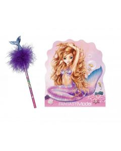 Set Carnetel si creion, Top Model, Fantasy Purple Mermaid, 10474