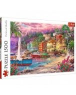 "Puzzle Trefl, ""On the Golden Shores"", 1500 de piese"